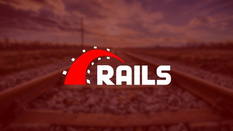 a train rail as the ruby on rails logo