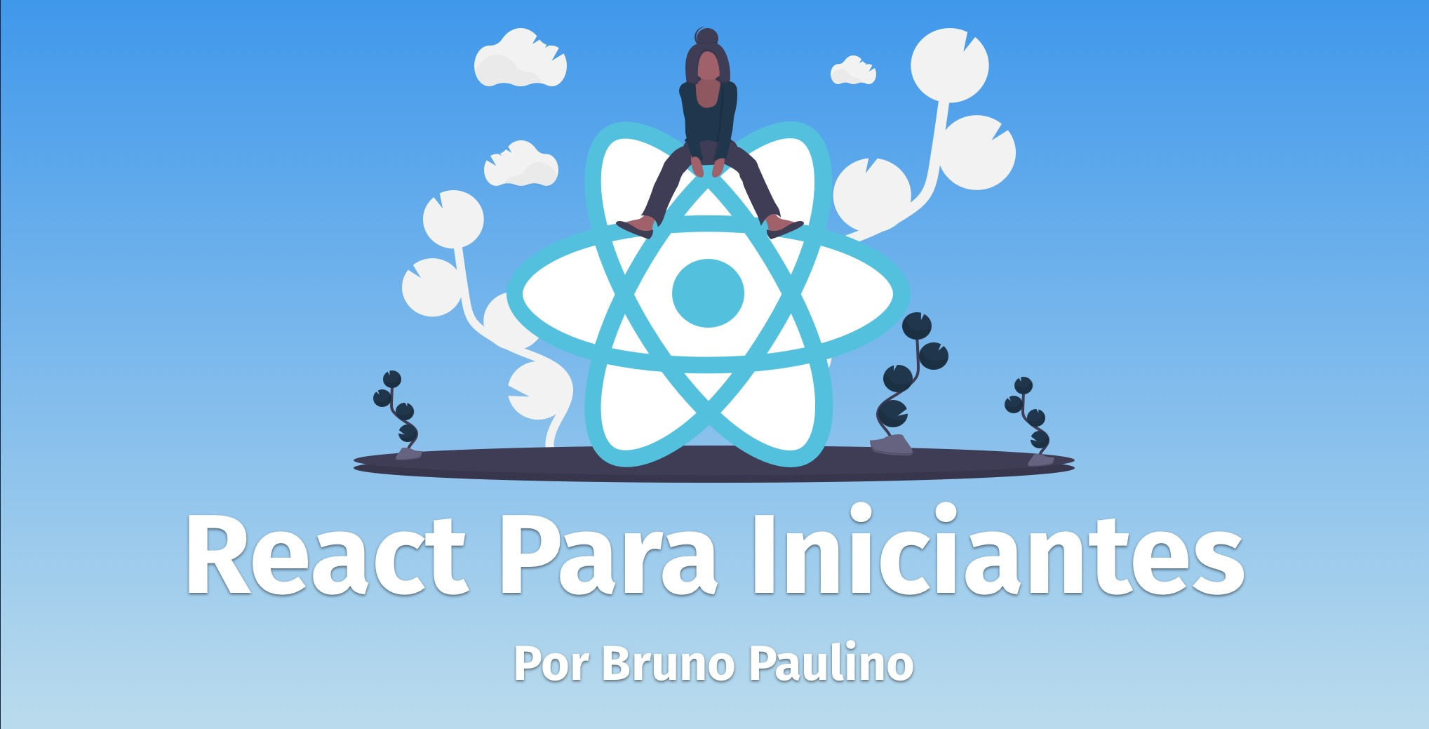 Capa do curso React para Iniciantes com o Logo do React